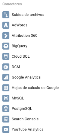 Conectores Google Data Studio